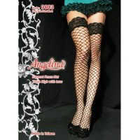 Angelina Lycra Fence Net Thigh High